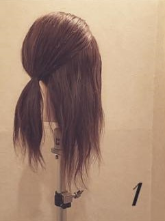 ふんわり☆ロープ編みまとめ髪1