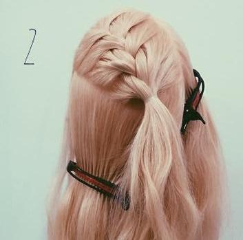 貴族風♡編みまとめ髪2