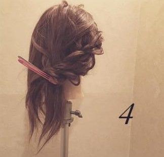 ロープ編みdeふんわり流しヘア5