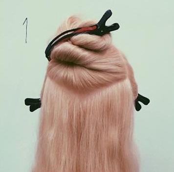 貴族風♡編みまとめ髪1