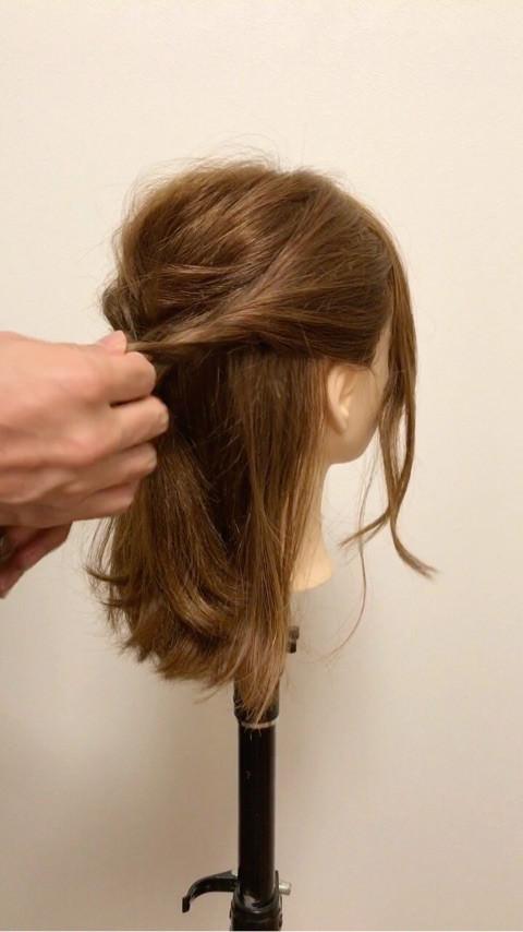 ミディアムヘアの♪大人キレイなお呼ばれスタイル3