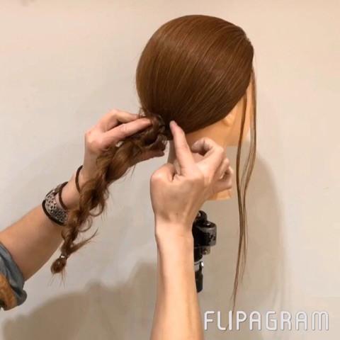 ねじるだけ☆大人女子にピッタリのまとめ髪4