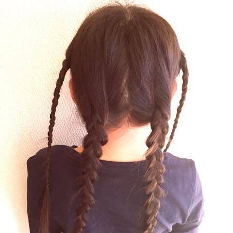 巻きつけ三つ編みdeまとめ髪1