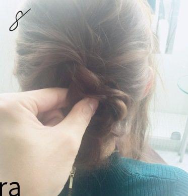 フェミニンなふんわりまとめ髪☆8