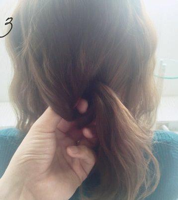 フェミニンなふんわりまとめ髪☆3
