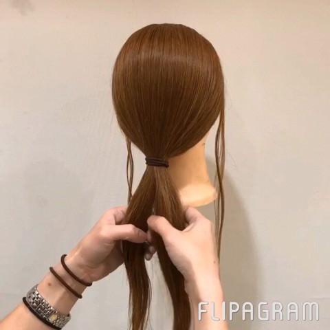 ねじるだけ☆大人女子にピッタリのまとめ髪1