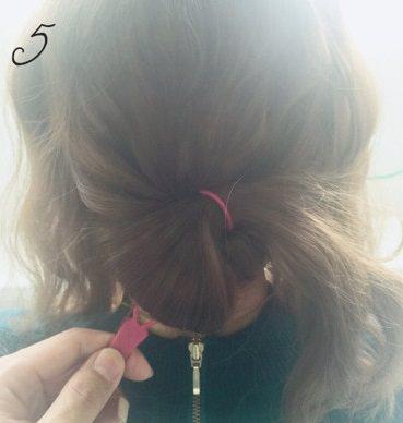 フェミニンなふんわりまとめ髪☆5