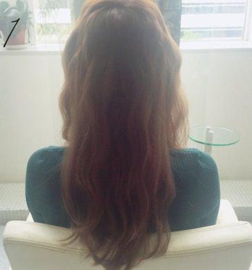 フェミニンなふんわりまとめ髪☆1