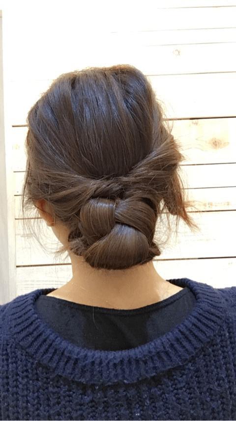 三つ編みで上品に♪大人のまとめ髪8