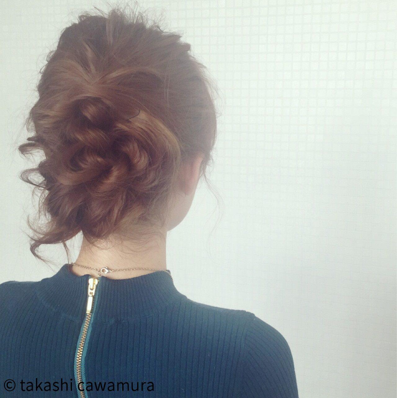 フェミニンなふんわりまとめ髪☆f