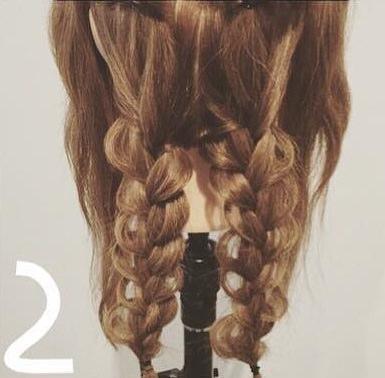 ダブルくるりんぱdeまとめ髪2