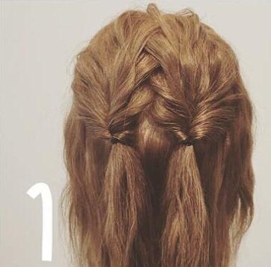 ダブルくるりんぱdeまとめ髪1