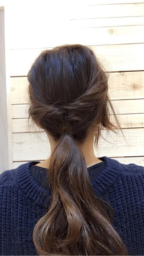 三つ編みで上品に♪大人のまとめ髪5