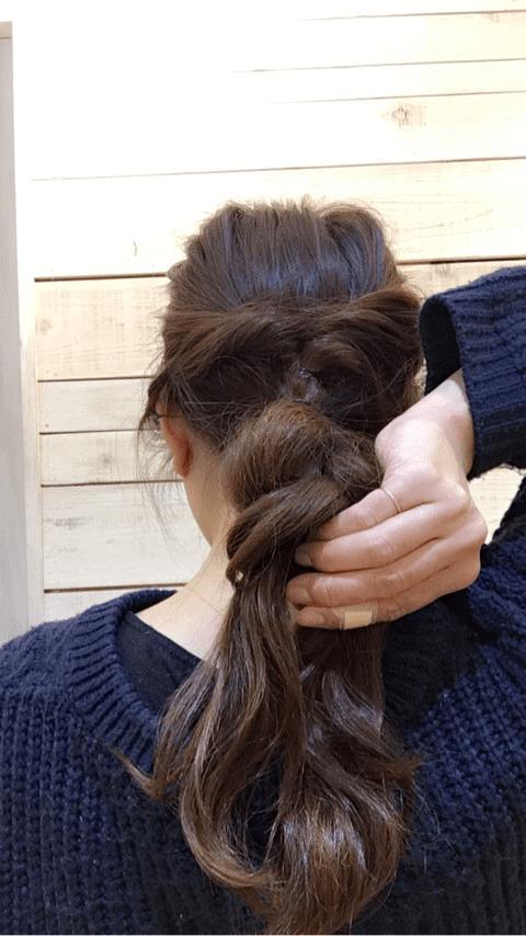三つ編みで上品に♪大人のまとめ髪6