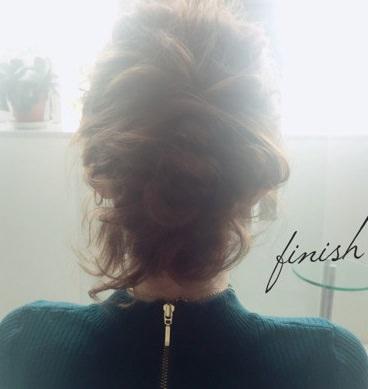 フェミニンなふんわりまとめ髪☆9
