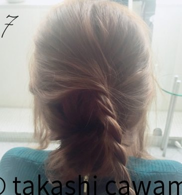 フェミニンなふんわりまとめ髪☆7