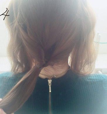 フェミニンなふんわりまとめ髪☆4