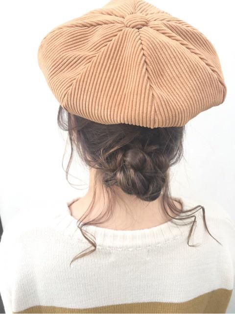 ベレー帽×お団子でつくる垢抜けスタイル♪TOP