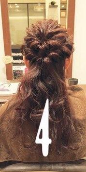 ♡くるりんぱとロープ編みで作るまとめ髪4