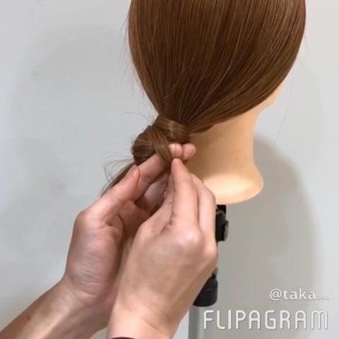 シンプル!なのにかわいい♡定番ポニーテールアレンジ4