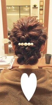 ♡くるりんぱとロープ編みで作るまとめ髪トップ