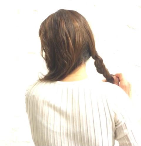 三つ編みを丸めてつくる!簡単パーティアレンジ☆1