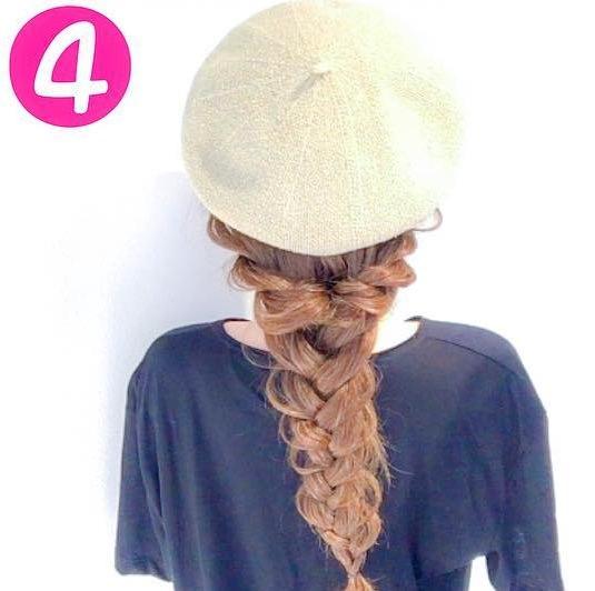 ベレー帽に合わせる可愛いロングヘアアレンジ♪4 - コピー