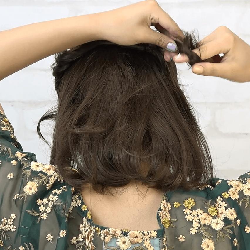 編み込み一切不要!ねじりだけで作れるまとめ髪2