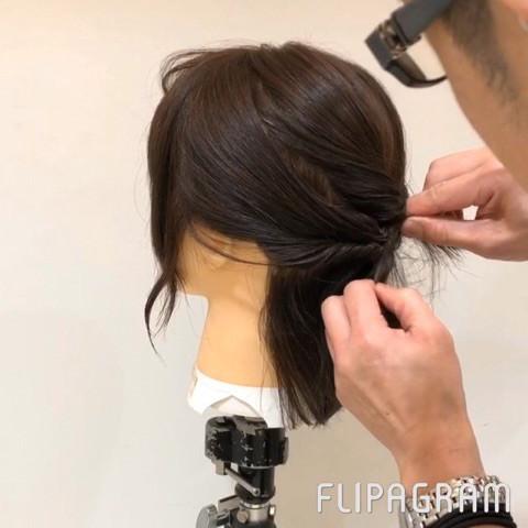 伸ばしかけショートヘアさん向け☆イメージが一気に変わるローポニーテール3