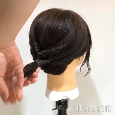 伸ばしかけショートヘアさん向け☆イメージが一気に変わるローポニーテール5