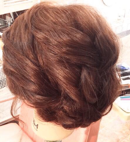 編み込み×3回☆インパクト抜群なまとめ髪2