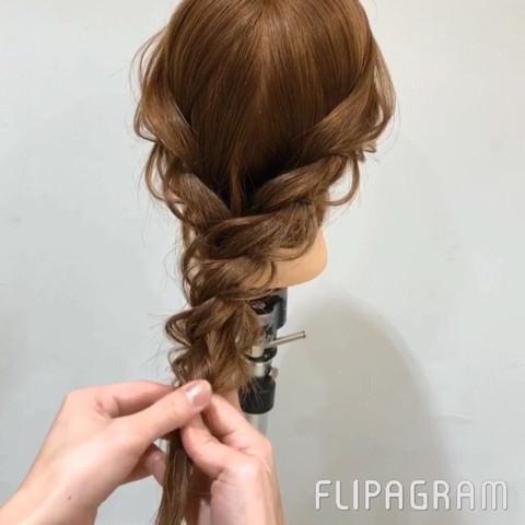 短い髪でも大丈夫♡ふんわり編み下ろしアレンジ6