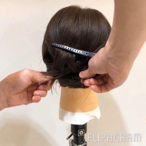 伸ばしかけショートヘアさん向け☆イメージが一気に変わるローポニーテール4
