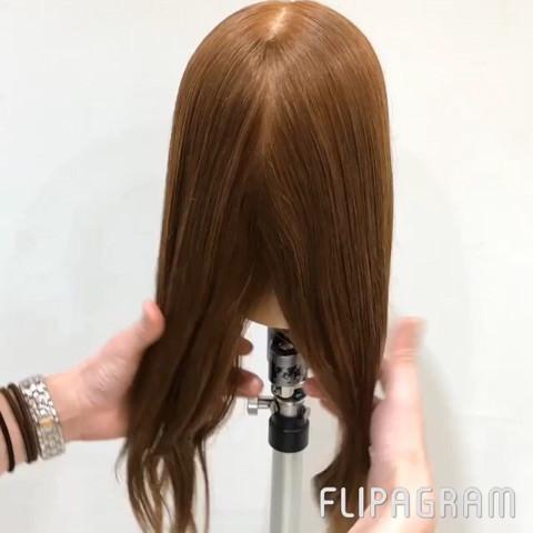 短い髪でも大丈夫♡ふんわり編み下ろしアレンジ1