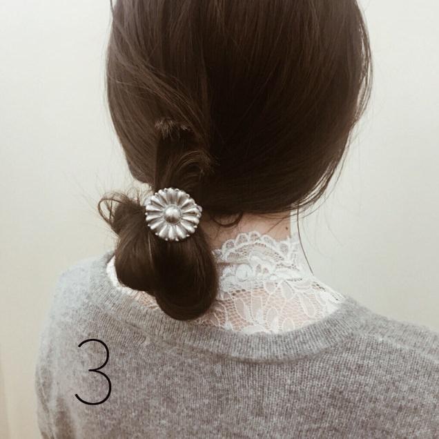 【ミディアムヘアさんへ】簡単可愛い3STEPお団子☆3