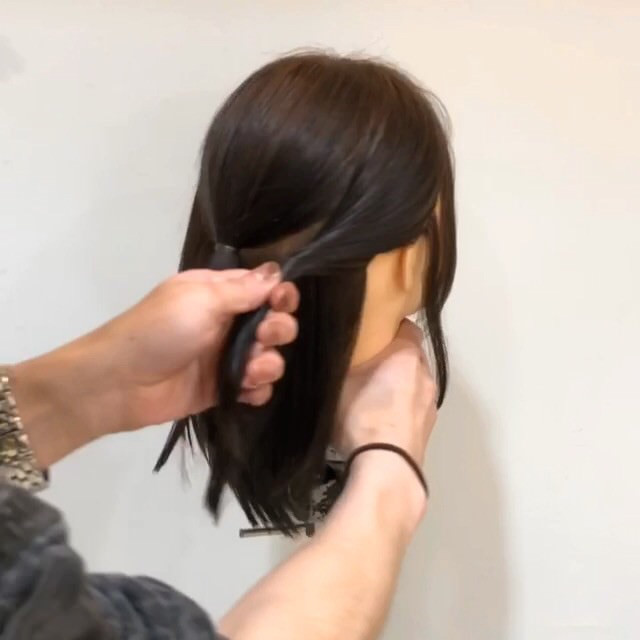 髪が短くてもできる♡こなれ清楚ハーフアップ2