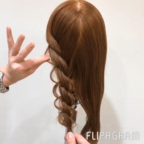 短い髪でも大丈夫♡ふんわり編み下ろしアレンジ5
