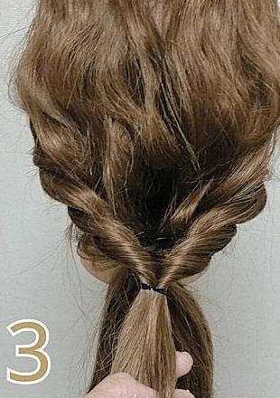 波巻きが女性らしさを演出♪簡単ローポニーテール3