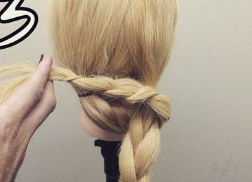 【編み込み不要】三つ編みでセレブシニヨン☆3