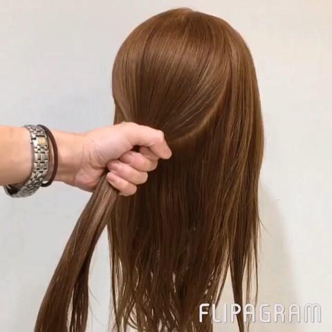 秋冬ワンピにピッタリ☆華やかまとめ髪1