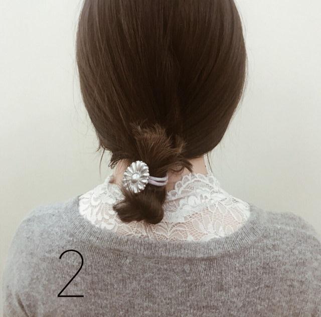 【ミディアムヘアさんへ】簡単可愛い3STEPお団子☆2