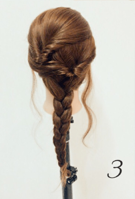 お呼ばれアレンジ☆うなじ魅せの華やかまとめ髪3