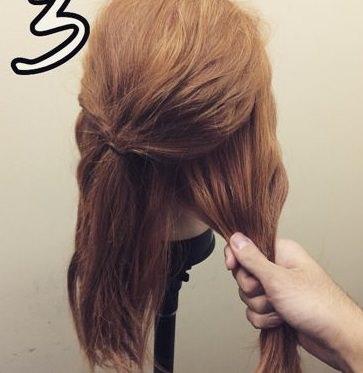 """アンニュイな""""ほわほわ""""まとめ髪♪3"""
