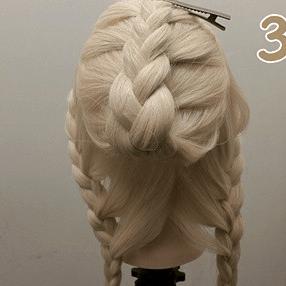 綺麗な編み目が目を引く♥編みおろしアレンジ3