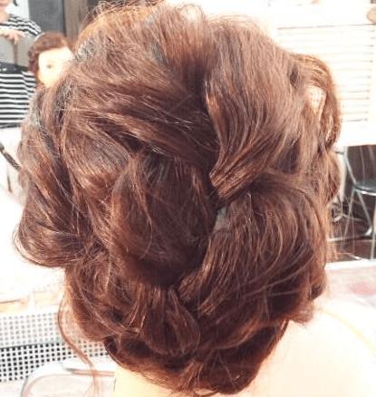 編み込み×3回☆インパクト抜群なまとめ髪3