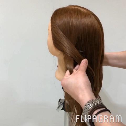 短い髪でも大丈夫♡ふんわり編み下ろしアレンジ2