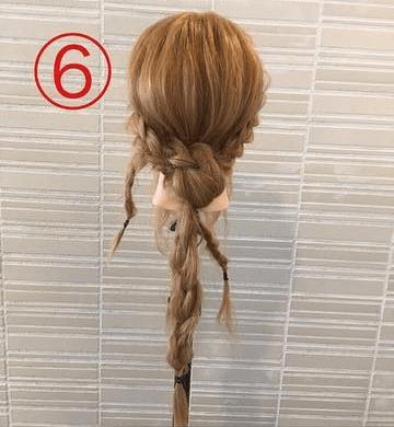 サイドの三つ編みがキュート♡浴衣スタイルにぴったりなまとめ髪6
