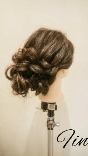四つ編みだけで作る!ボリュームまとめ髪7