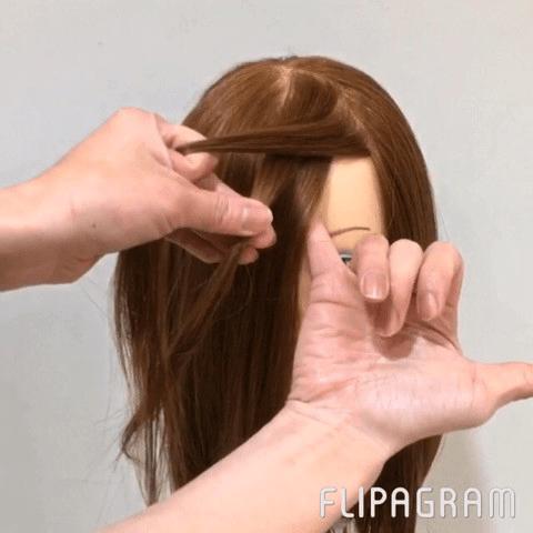 ニット帽にぴったりなイマドキ前髪とポニーテールアレンジ☆2