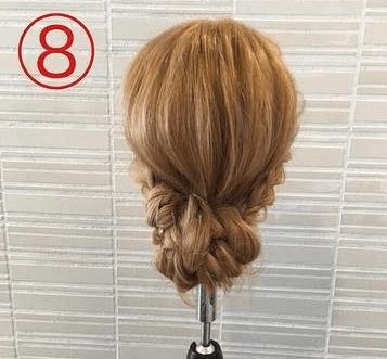 サイドの三つ編みがキュート♡浴衣スタイルにぴったりなまとめ髪8